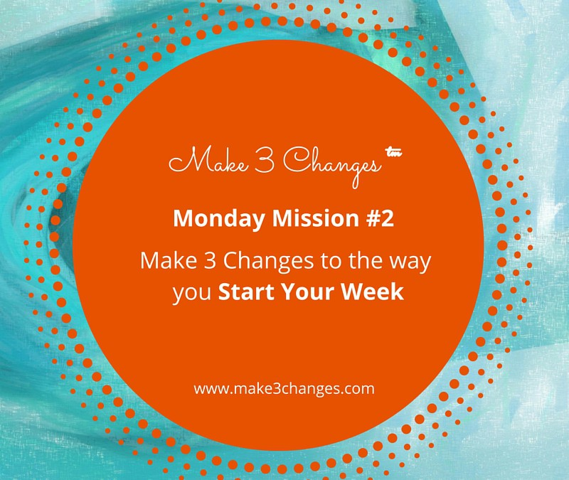 Make 3 Changes™ Monday Mission #2 – Start Your Week