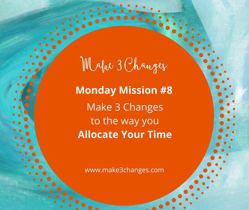 Make 3 Changes™ Monday Mission #8 : Allocate Your Time