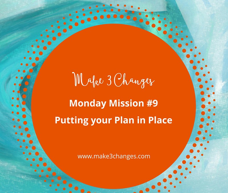 Make 3 Changes™ Monday Mission #9: Putting Your Plan in Place