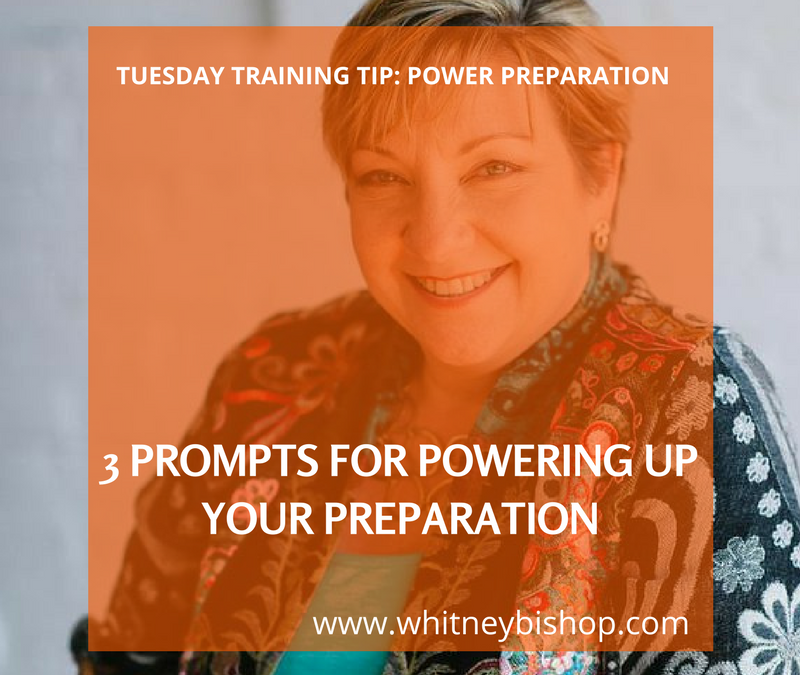 Tuesday Training Tip: What's Your WHY?